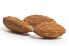 Almonds isolated Royalty Free Stock Image
