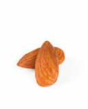 Almonds isolated on white background. Royalty Free Stock Image