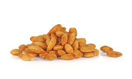 Almonds isolated on white background Stock Image