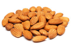 Almonds isolated on white. Royalty Free Stock Photography