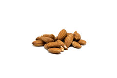 Almonds isolated. On white background stock images