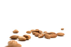 Almonds isolated on white background. Stock Image