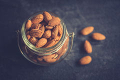 Almonds in the jar Stock Photo