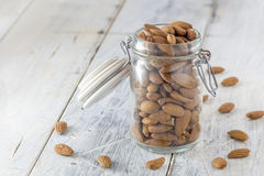 Almonds in a jar Stock Photo