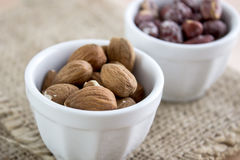 Almonds kernel in a bowl Royalty Free Stock Photo