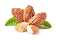 Almonds kernel Royalty Free Stock Images