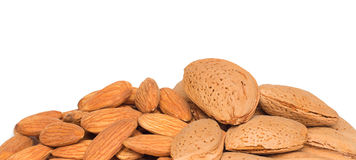 Almonds with kernel Royalty Free Stock Photography