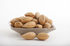 Almonds with kernel Royalty Free Stock Photos