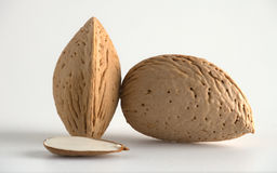 Almonds with kernel Royalty Free Stock Images