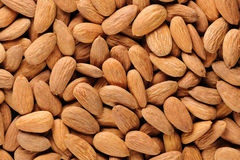 Almonds macro background Royalty Free Stock Image