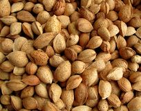 Almonds on a market Royalty Free Stock Image