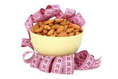 Almonds and meter Stock Photos