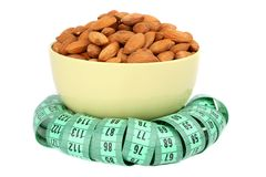 Almonds and meter Royalty Free Stock Photography
