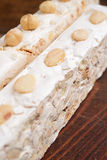 Almonds nougat Royalty Free Stock Photos