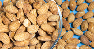 Almonds Nut Closeup Stock Photography