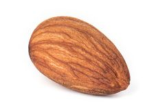 Almonds isolated. Almonds, Nut isolated on the white background stock image