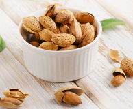 Almonds nut Royalty Free Stock Images