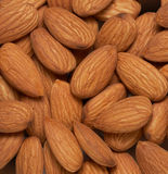 Almonds nuts background Royalty Free Stock Image