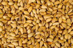 Almonds nuts background Royalty Free Stock Photo
