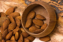 Almonds nuts Stock Photos