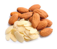 Almonds nuts with cereal almonds Stock Photo