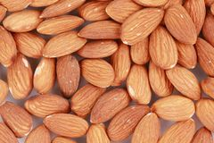 Almonds nuts close up. Macro. Royalty Free Stock Images