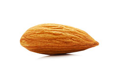 Almonds nuts isolated on the white background Royalty Free Stock Photography