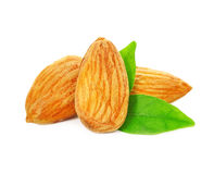 Almonds nuts Stock Photos