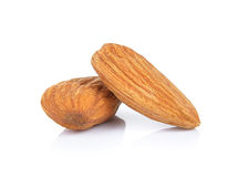 Almonds nuts isolated on white background Stock Photo