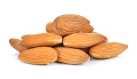 Almonds nuts isolated on white background Stock Image