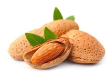 Almonds nuts Royalty Free Stock Images
