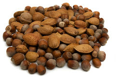 Almonds and Nuts Royalty Free Stock Images