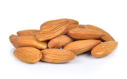 Almonds nuts on white background Stock Photo