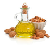 Almonds oil Royalty Free Stock Image