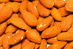 Almonds pattern Stock Images