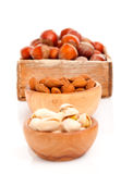 Almonds, pistachio and hazelnut Royalty Free Stock Image