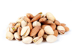 Almonds and pistachios 3 Stock Photo