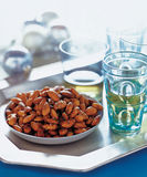 Almonds on plate Royalty Free Stock Image