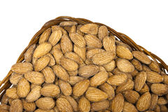 Almonds in pottle Royalty Free Stock Photos