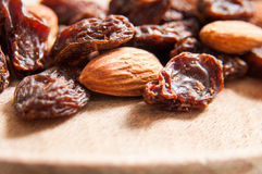 Almonds and raisins Stock Photo