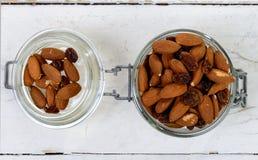 Almonds with raisins dry Royalty Free Stock Photo