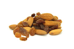 Almonds and raisins Royalty Free Stock Photos