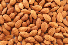 Almonds. Ripe and tasty almonds background Stock Images