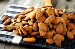 Almonds for roast elaboration dry fruit snacks Royalty Free Stock Photos