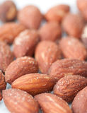 Almonds with salt Royalty Free Stock Image