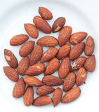 Almonds with salt Royalty Free Stock Photography