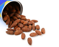 Almonds with salted Royalty Free Stock Photos