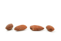 Almonds with salted Stock Photos