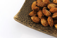 Almonds seed drying Royalty Free Stock Image