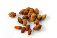 Almonds seed drying Royalty Free Stock Images